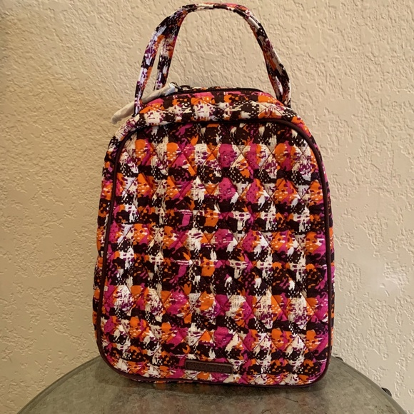 Vera Bradley Lunch Bunch Bag In Houndstooth Tweed